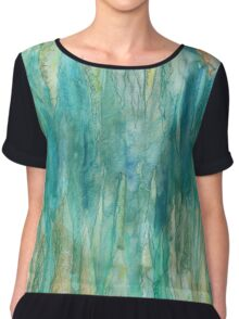 Abstract Undersea Caves Chiffon Top