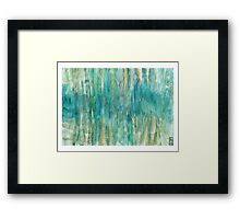 Abstract Undersea Caves Framed Print