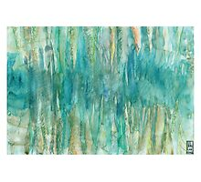 Abstract Undersea Caves Photographic Print