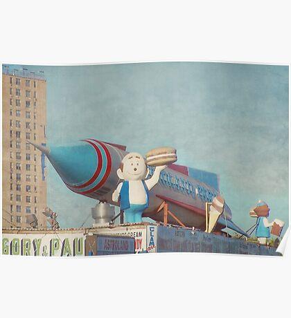 Astroland Park Retro Poster