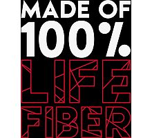 Made of 100% Life Fiber - White Photographic Print
