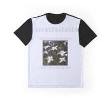 Star White Flowers Graphic T-Shirt