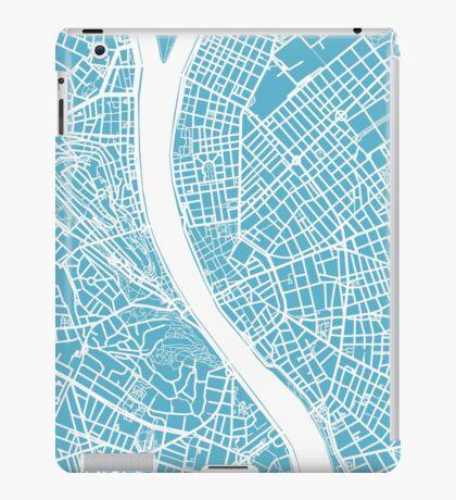 Budapest Map - Baby Blue iPad Case/Skin