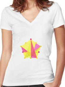 Crisscross Pentagon Women's Fitted V-Neck T-Shirt