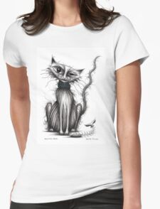 Salmon face Womens Fitted T-Shirt