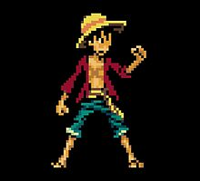 Pixelated Luffy by PioMateo