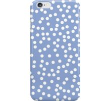 Cute Periwinkle and White Polka Dots iPhone Case/Skin