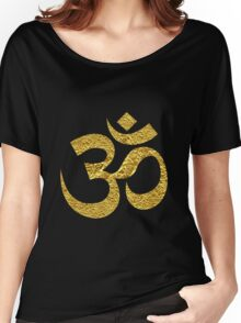 Om Symbol Gold Women's Relaxed Fit T-Shirt