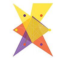 Abstract Hexagon Photographic Print