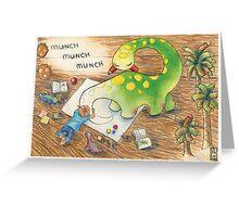 Dinosaur Drawing Greeting Card