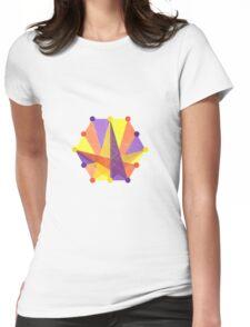 Crisscross Hexagon Womens Fitted T-Shirt