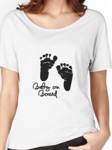 Baby On Board Women's Relaxed Fit T-Shirt