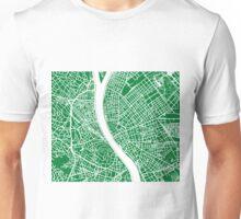 Budapest Map - Green Unisex T-Shirt