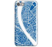Budapest Map - Deep Blue iPhone Case/Skin