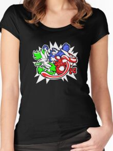 triple threat chesnaught Women's Fitted Scoop T-Shirt