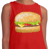 Pixel Food Series - Cheeseburger Contrast Tank