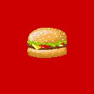 Pixel Food Series - Cheeseburger by TheGreys