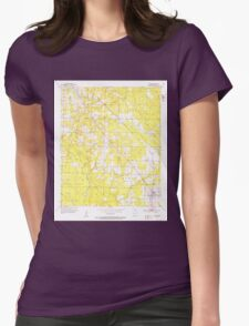 USGS TOPO Map Arkansas AR Fouke 258501 1952 24000 Womens Fitted T-Shirt