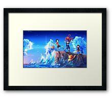 Ace & Sabo & Luffy Framed Print