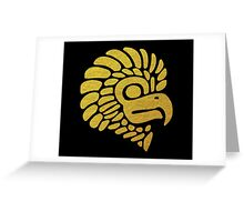 Gold Mexican Eagle Greeting Card