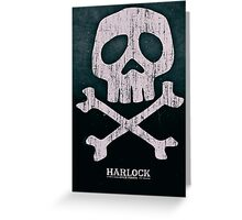 Captain Harlock Skull Greeting Card