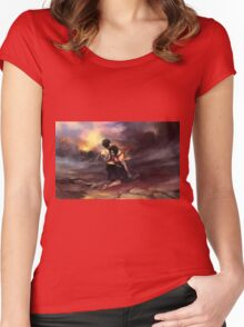 Ace & Luffy Women's Fitted Scoop T-Shirt