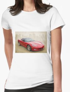 Red Corvette Womens Fitted T-Shirt