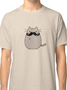 Hipster pusheen cat Classic T-Shirt