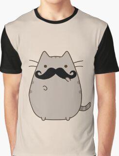 Hipster pusheen cat Graphic T-Shirt