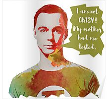 Sheldon Cooper funny quote  Poster