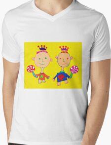 Kingsley and Kenzo Mens V-Neck T-Shirt