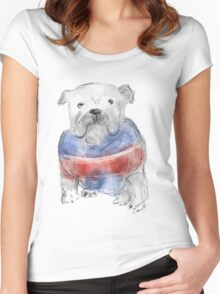 Western Bulldogs ( Go Doggies! ) Women's Fitted Scoop T-Shirt