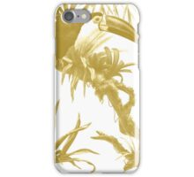 Toucans and Bromeliads - Spicy Mustard iPhone Case/Skin