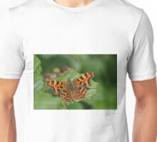 Comma Butterfly at Gwithian Nature Reserve in Cornwall Unisex T-Shirt