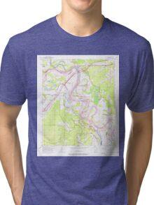 USGS TOPO Map Arkansas AR Fulton 258528 1951 24000 Tri-blend T-Shirt