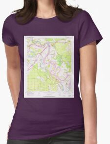 USGS TOPO Map Arkansas AR Fulton 258528 1951 24000 Womens Fitted T-Shirt