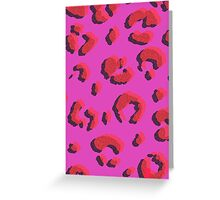 Stylised Leopard  Greeting Card