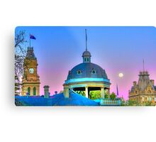 The Surreal Moonrise Over Bendigo Metal Print