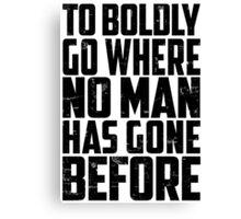 Star Trek - To Boldly Go! Canvas Print