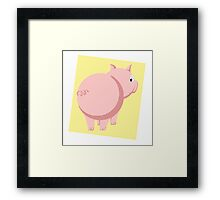 Pig Without the Pun Framed Print