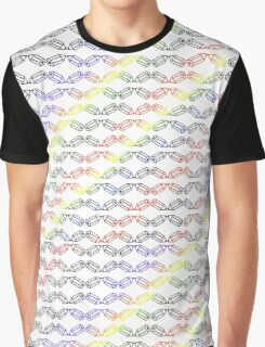 Hexagon School #2 Pencils Primary Colors Red Blue Black Yellow Style Number Two Graphic T-Shirt