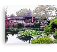 Chinese Garden, Photo / Digital Painting  Canvas Print
