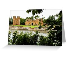 old brick castle  Greeting Card