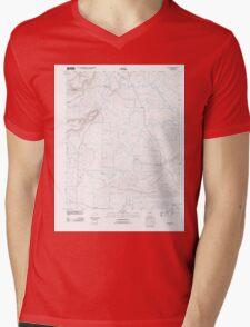 USGS TOPO Map Arkansas AR Letona 20110728 TM Mens V-Neck T-Shirt