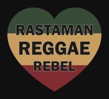 Rastaman Reggae Rebel Baby Tee