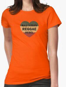Rastaman Reggae Rebel Womens Fitted T-Shirt