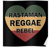 Rastaman Reggae Rebel Poster
