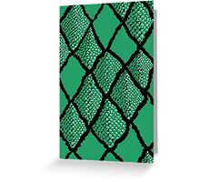 Snake Skin Greeting Card