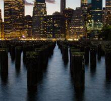 Manhattan Skyline @ Night Sticker