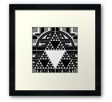 Monochrome, Sierpinski Triangle Framed Print